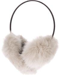Meteo by Yves Salomon Rabbit Fur Earmuffs - White