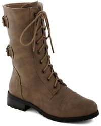 ModCloth | You Tread It Boot in Taupe | Lyst