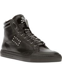 Philipp Plein Studded Hi-top Sneaker - Lyst