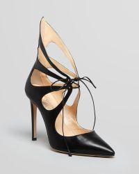 Alejandro Ingelmo Pointed Toe Pumps - Mariposa Cutout High Heel - Lyst