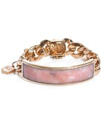 Ann Dexter-Jones Pink Opal and Goldplated Id Bracelet