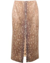 Carven Deer Print Long Skirt - Lyst