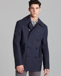 Hancock Doublebreasted Bonded Wool Peacoat - Lyst