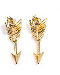 Jade Jagger - Gold Plated Arrow Stud Earrings - Lyst