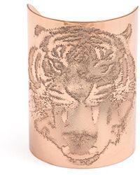 Joomi Lim Tiger Engraved Cuff - Pink