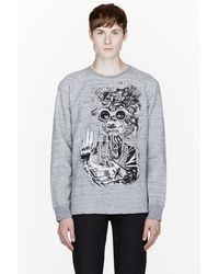 Marc Jacobs Grey Slub Bst Collaboration Graphic Sweatshirt - Lyst