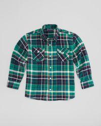 5289983f8fa9 Oscar de la Renta - Plaid Fisherman Shirt Green Sizes 410 - Lyst