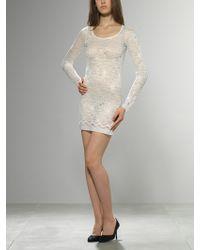 Patrizia Pepe Stretch Lace Mini Dress - Lyst