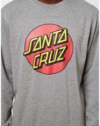 Santa Cruz Dot Crew Sweat - Gray