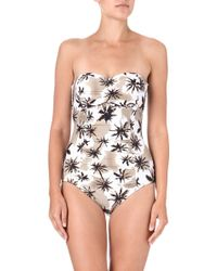 Seafolly Palm Springs Bandeau Swimsuit - Lyst