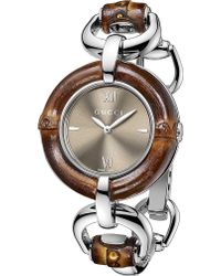 Gucci Bamboo Collection Stainless Steel Watch Brown - Lyst