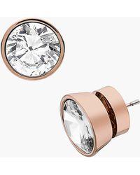 MICHAEL Michael Kors Michael Kors Glam Classics Cubic Zirconia Stud Earrings - Lyst