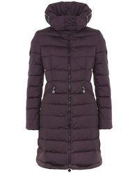 Moncler Flamme Coat - Purple
