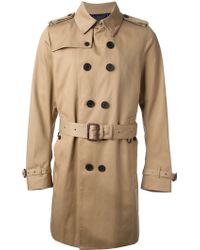 Paul Smith Paul Smith Trench Coat - Natural
