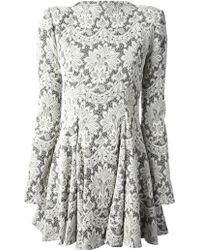 Plein Sud Jeanius - Plein Sud Jeanius Embroidered Lace Dress - Lyst