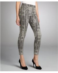 Waverly Grey - Black and White Window pane Patterned Side Zip Stretch Pants - Lyst