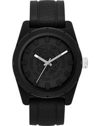 Diesel Black Silicone Watch - Lyst