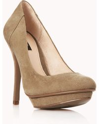 Forever 21 Timeless Faux Suede Platforms - Brown