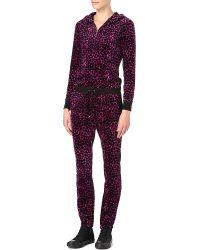 Juicy Couture Leopardprint Velour Jumpsuit - Purple