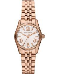 Michael Kors Lexington Rose Gold Chronograph Watch White - Lyst