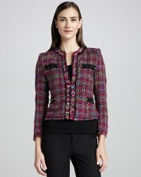Michael Simon Multicolor Tweed Jacket - Lyst