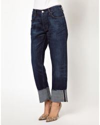 MiH Jeans Mih Jeans Phoebe Boyfriend Turn Up Jeans - Lyst