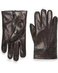 Boss Black Nappa Leather Gloves - Lyst