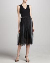 Donna Karan New York Silk Ombre Flutter Skirt - Lyst