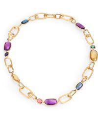 Marco Bicego Murano Semi-Precious Multi-Stone & 18K Yellow Gold Link Necklace - Lyst