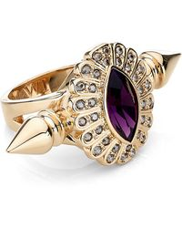 Mawi   Oval Crystal Double Spiked Ring   Lyst