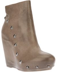 Vic Matie' Vic Matie Studded Wedge Boot - Lyst