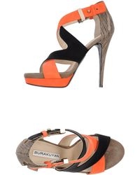 Burak Uyan Platform Sandals black - Lyst