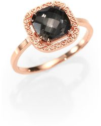 KALAN by Suzanne Kalan - Black Night Topaz and 14k Rose Gold Ring - Lyst