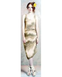 Alice + Olivia Asymmetrical Drape Tie Dye Dress - Lyst