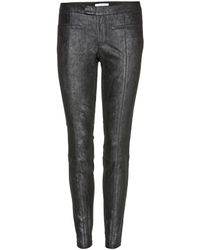 Helmut Lang Stretch-Leather Trousers - Lyst