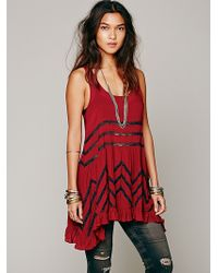 Free People Voile And Lace Trapeze Slip - Lyst