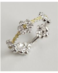 Kwiat - White Gold and Yellow Diamond Daisy Ring - Lyst
