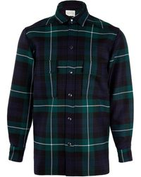 Lou Dalton Green Tartan Wool Shirt