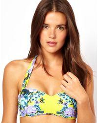 Seafolly Bella Rose Mirror Print Bandeau Bikini Top - Lyst