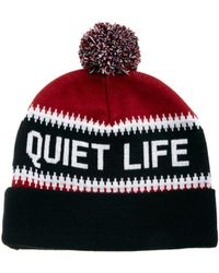 The Quiet Life Flake Bobble Hat - Red