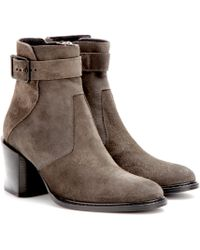 Helmut Lang Suede Ankle Boots - Lyst