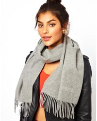 Boutique Moschino - Moschino Cheap and Chic Logo Diamante Scarf - Lyst