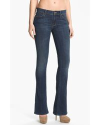 Mother The Runaway Bootcut Stretch Jeans Flowers From The Storm Wash - Lyst