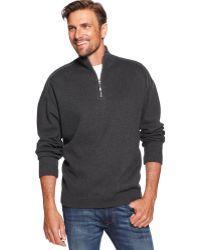 Tommy Bahama Flip Side Pro Half Zip Reversible Sweater - Gray
