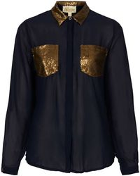 Topshop Rita Blouse By Goldie - Lyst