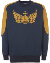 Vivienne Westwood Anglomania Quilted Sleeve Sweater - Lyst