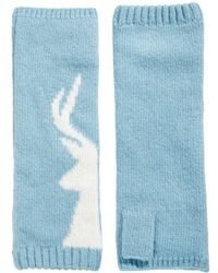Fred Perry Alice Hannah Stag Wristwarmers - Blue
