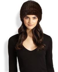 Annabelle New York - London Woven Mink Hat - Lyst