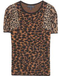 Alyssa Milano wears Prorsum Animal Jacquard ()