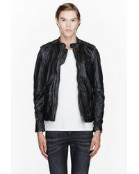 Diesel Black Worn Leather Leprandis Jacket - Lyst